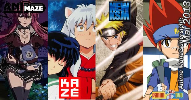 Mai 2013: Anime Monatsübersicht von Animaze, Kazé, KSM und Panini Ki