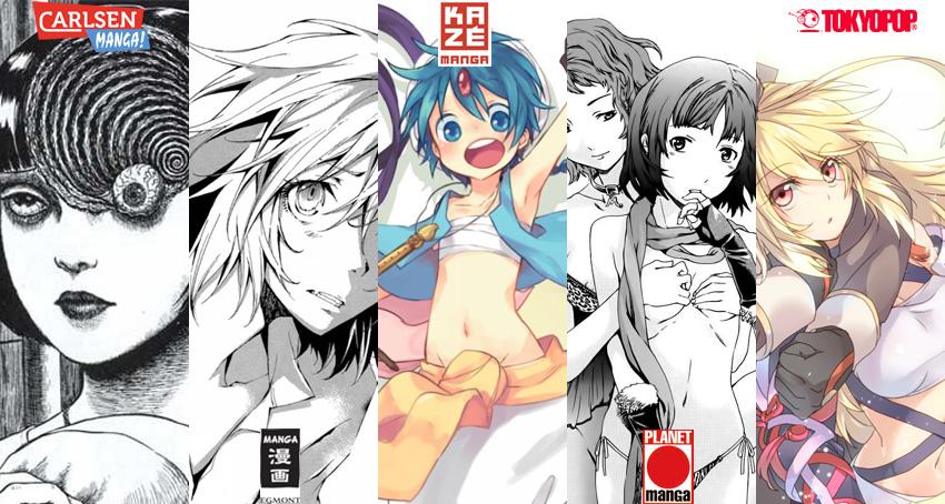 Oktober 2013: Manga Übersicht von Carlsen Manga, Egmont Manga (EMA),
