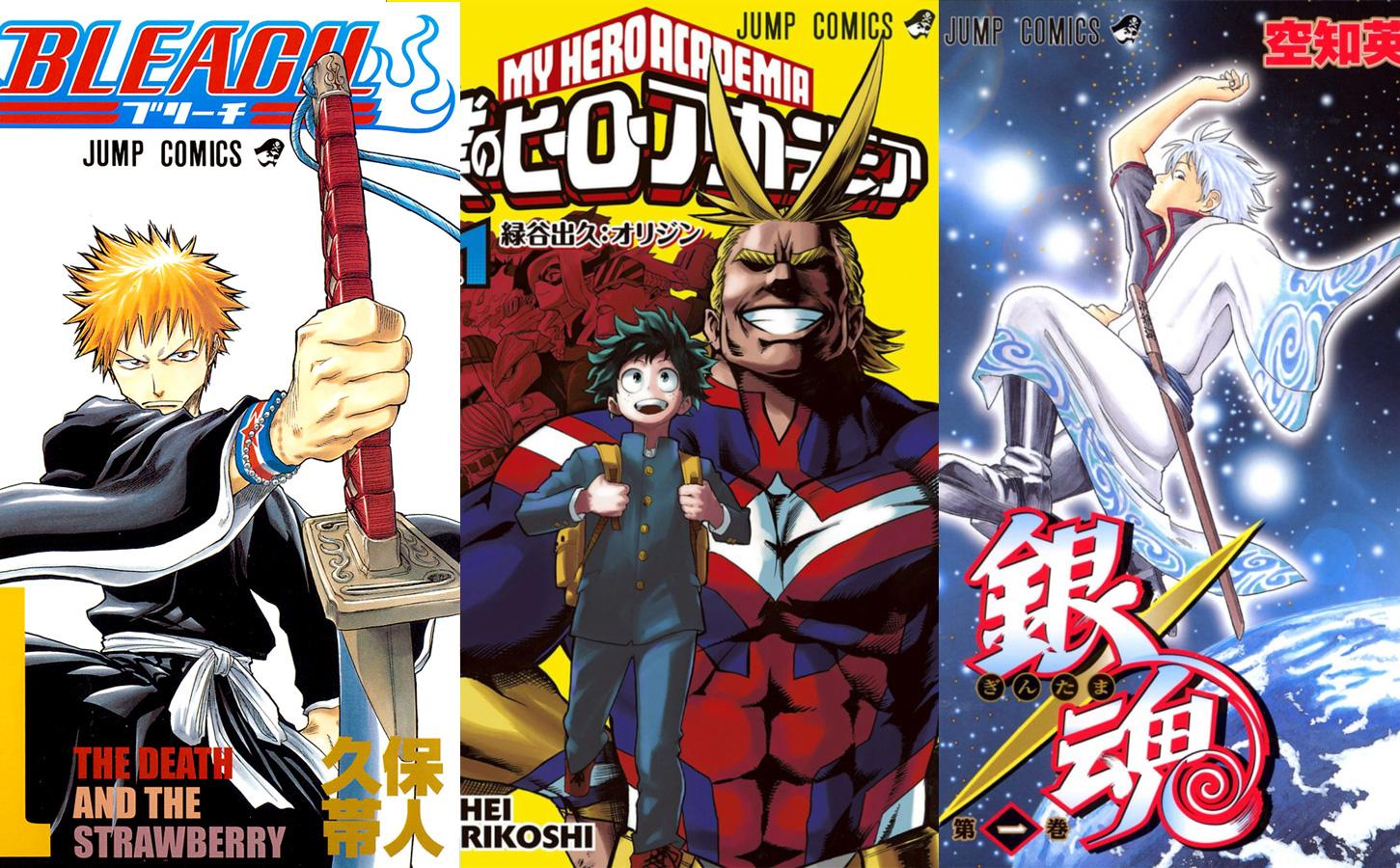 Neue Verkaufsrekorde der bekannten Shonen Jump Mangas Bleach, My Hero