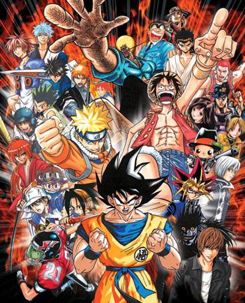 Neue Sammelbänder von Serien aus der Shonen Jump wie z.B. Naruto, Ble