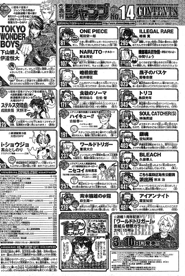 Weekly Shonen Jump 14/2014