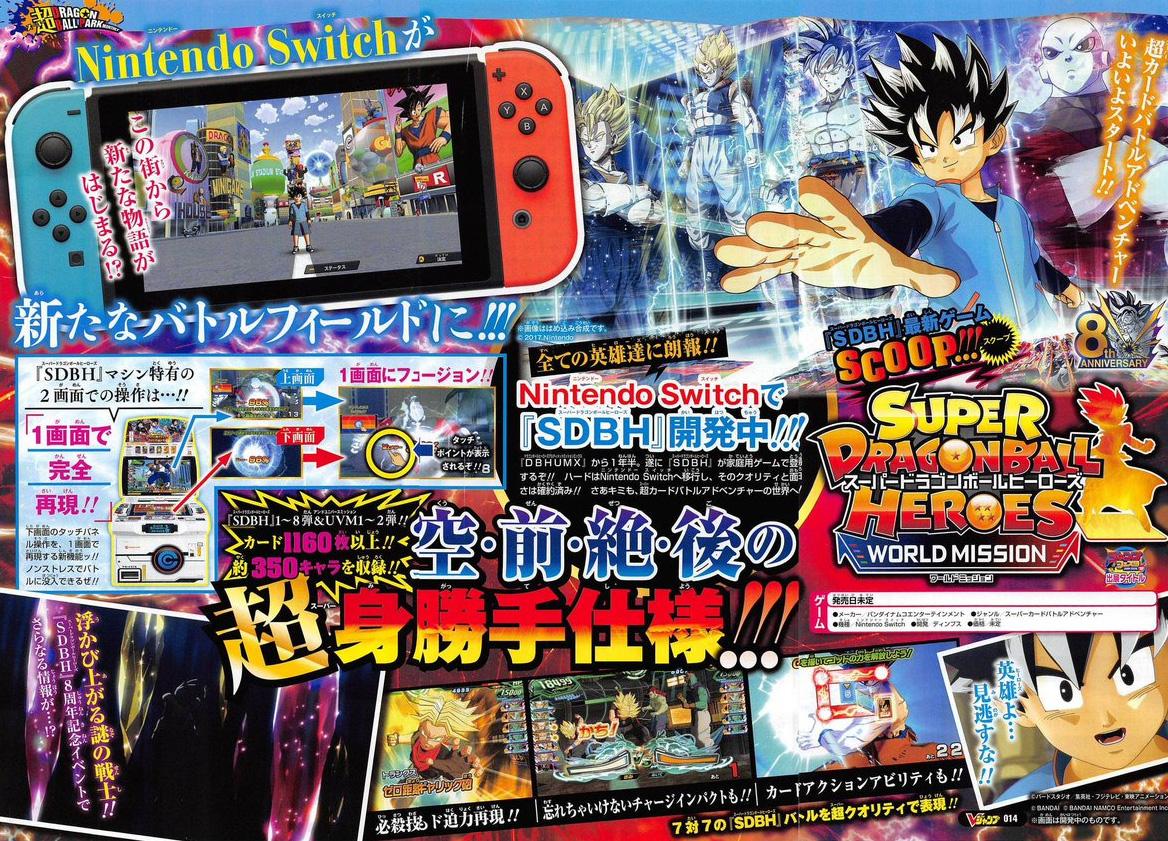 Neues Dragon Ball Heroes Spiel für die Nintendo Switch in Arbeit