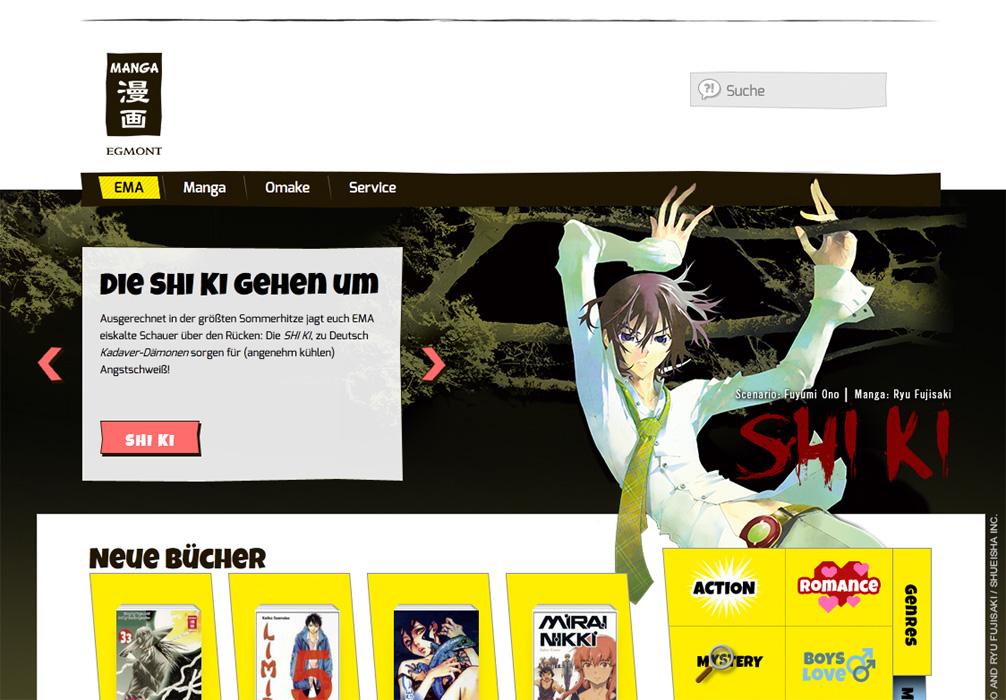 Der deutsche Mangaverlag Egmont Manga (EMA) geht mit einer neuen Homep
