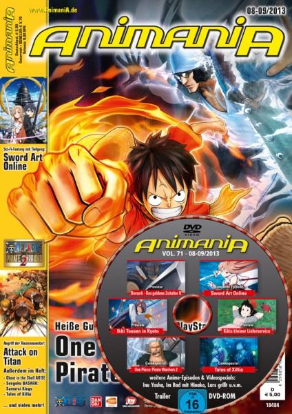 Die AnimaniA Ausgabe 08-09/2013 ist erhältlich