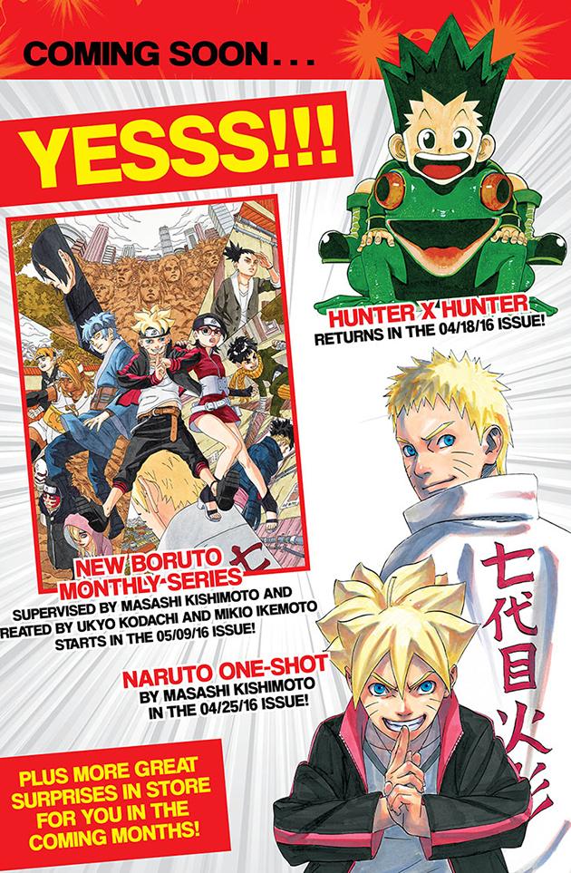 Hunter X Hunter, Boruto und Naruto Gaiden One-Shot demnächst auch im