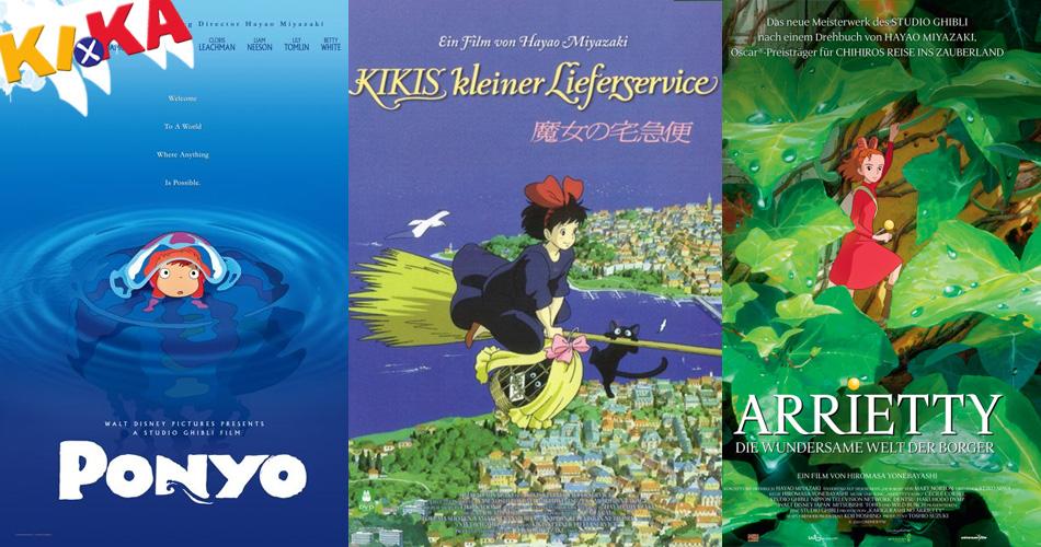 Deutscher TV-Sender KiKA bringt 3 tolle Ghibli Filme ins Fernsehen