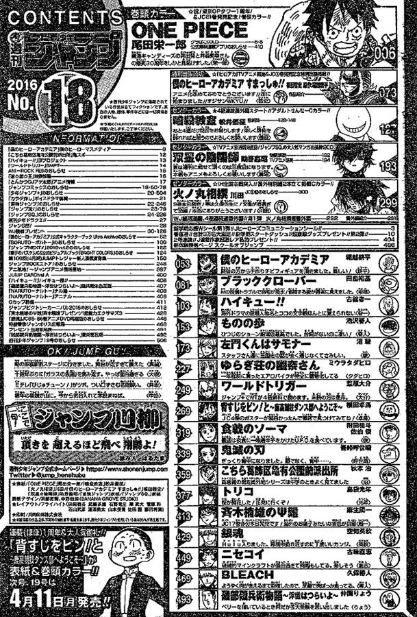 Weekly Shonen Jump 18/2016