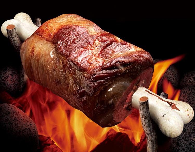 Fleisch wird zu Kuchen