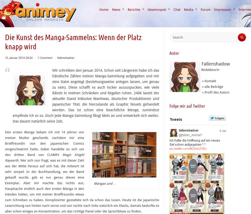 Manga sammeln! - Eine Sucht, die viel Stauraum beansprucht und oft ein