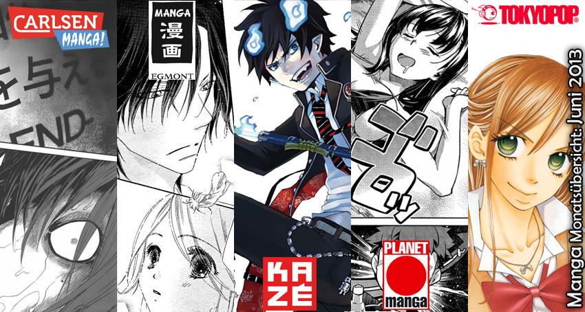 Juni 2013: Manga Monatsübersicht von Carlsen Manga, Egmont Manga (EMA