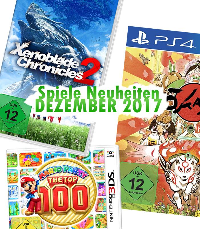 Spiele Neuheiten für Dezember 2017 von Nintendo, Capcom, Aksys Games