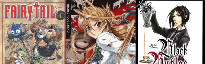 Neue Mangas bei Carlsen: Fairy Tail, Highschool of the Dead und Black