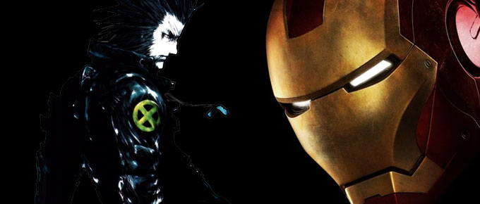 US Superhelden Iron Man und Wolverine als Anime