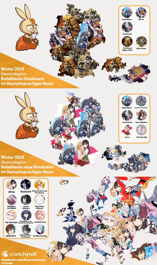 Crunchyrolls beliebteste Anime Simulcasts der Winter Season 2018 für