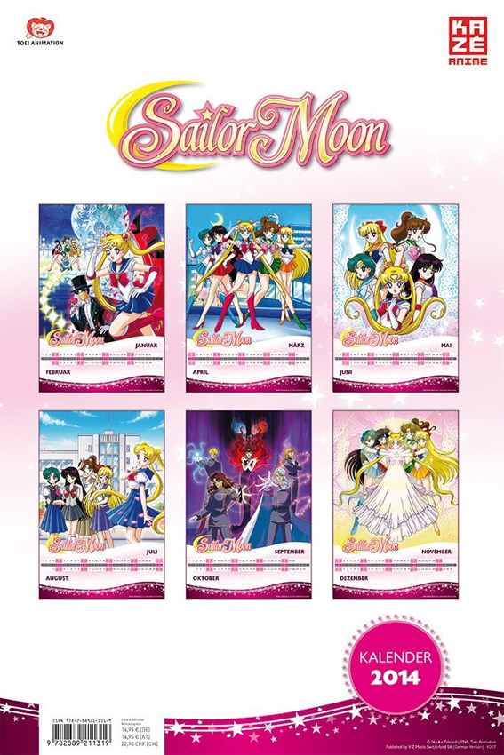Sailor Moon Wandkalender 2014