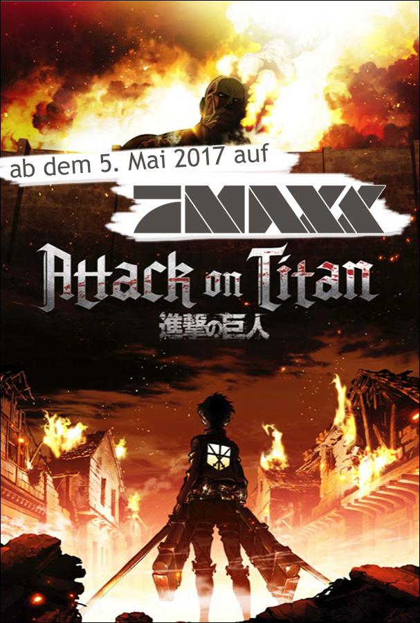 Der TV-Sender ProSieben MAXX strahlt Attack on Titan in deutscher Erst