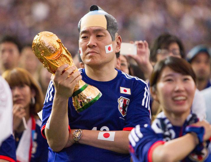 FIFA Fußball-Weltmeisterschaft 2014 - Kämpfende Japaner mit Pikachu