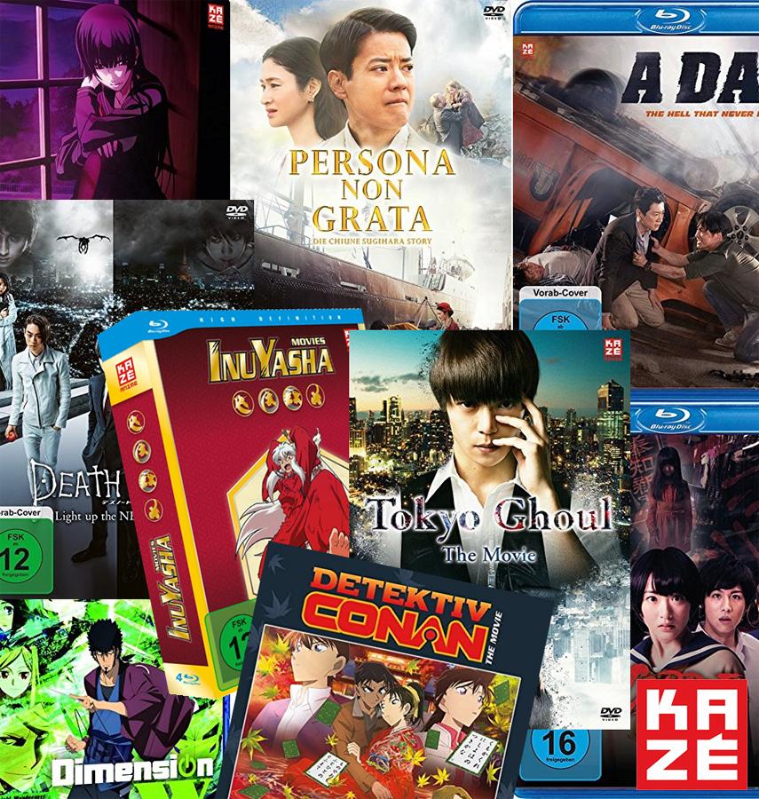 Neue Anime und Realfilme bei Kazé für das zweite Halbjahr 2018 *UPDA