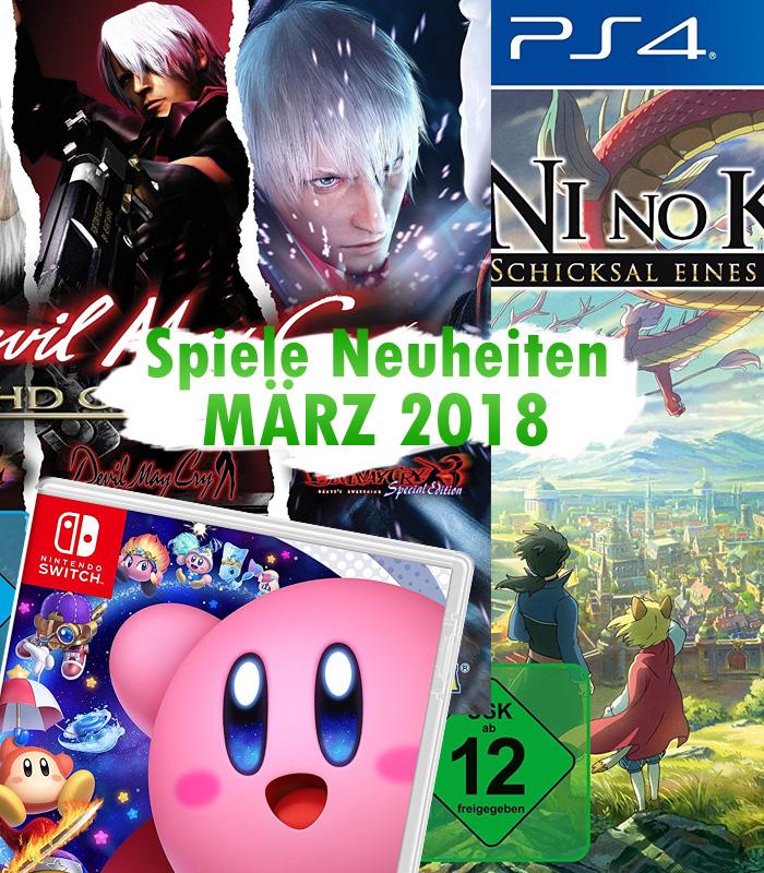 Spiele Neuheiten für März 2018 u.a. von Square Enix, Capcom, NIS Ame