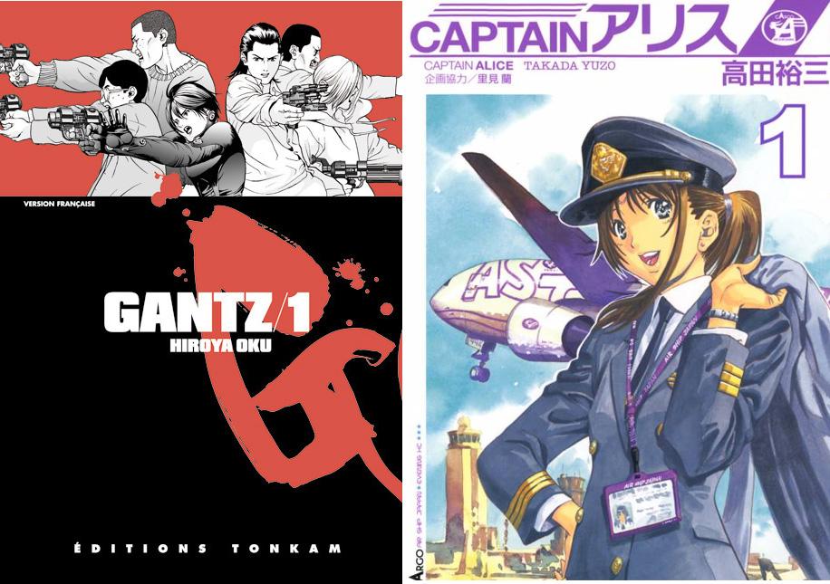 Die Manga-Serien Captain Alice von Yuzo Takada und Gantz von Hiroya Ok
