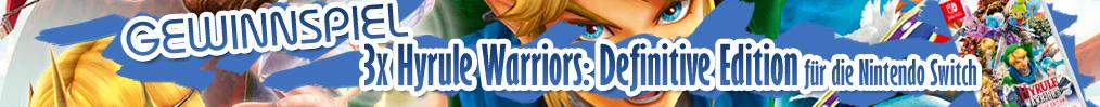 Gewinne mit etwas Glück Hyrule Warriors: Definitive Edition für die Nintendo Switch