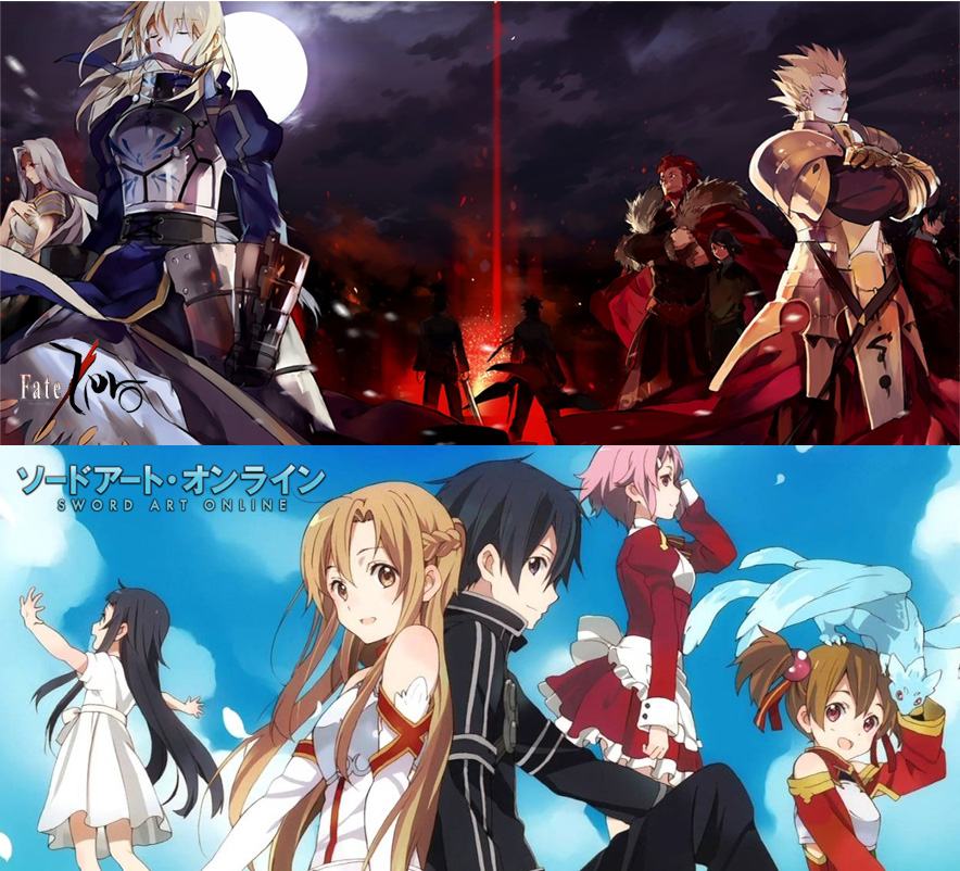 Fate/Zero und Sword Art Online bei peppermint anime