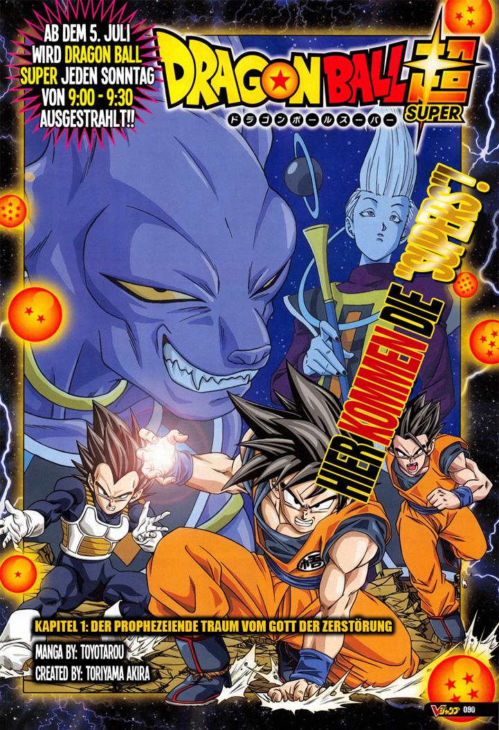 Dragon Ball Super Kapitel 1 - Der prophezeiende Traum vom Gott der Zer