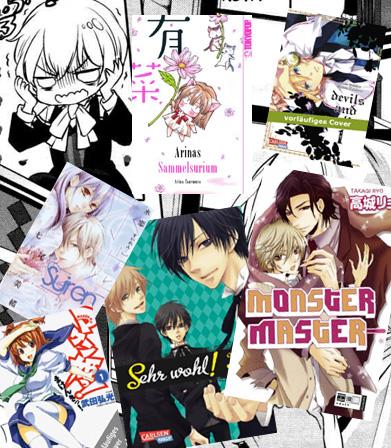 Neue Manga-Serien von Carlsen, Tokyopop, Planet Manga und EMA im Febru