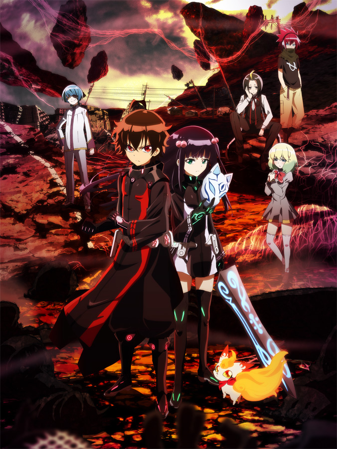 Die Anime TV-Serie Sousei no Onmyouji (Twin Star Exorcists) aus dem be