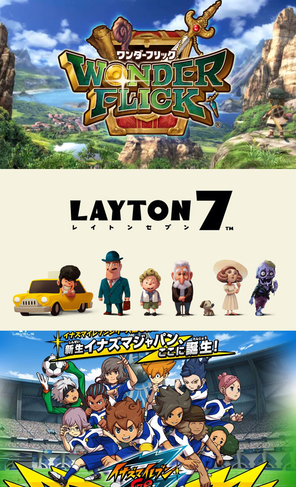 Level-5 mit Wonder Flick, Layton 7 und Inazuma Eleven GO Galaxy