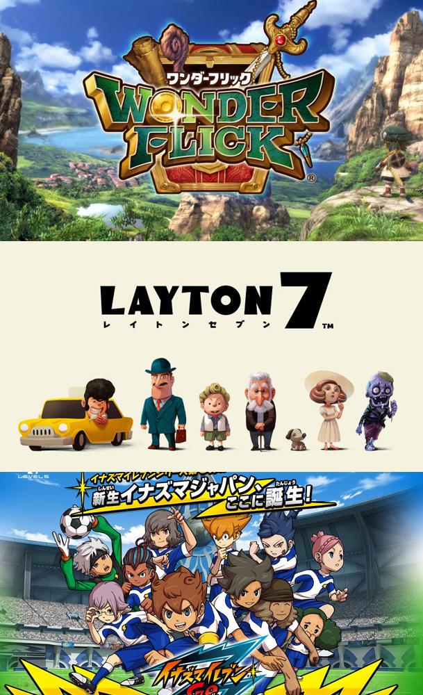 Level-5 mit Wonder Flick, Layton 7 und Inazuma Eleven GO Galaxy