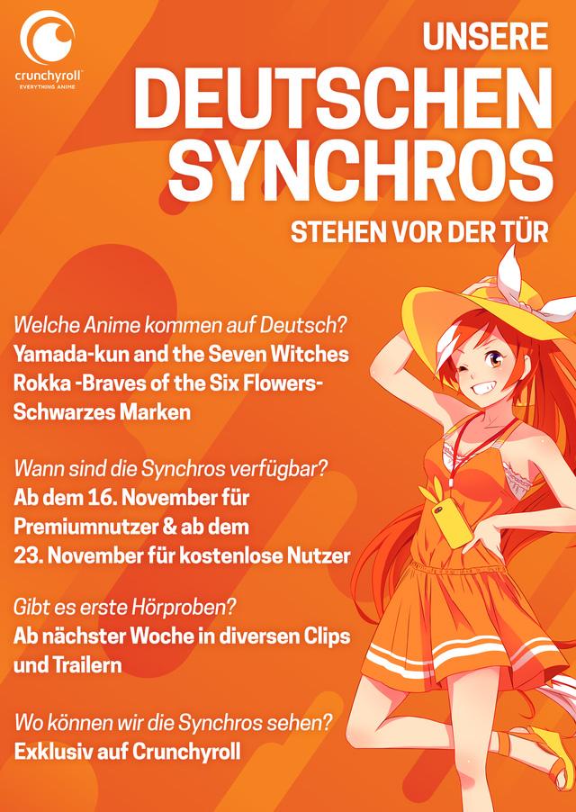 Crunchyroll startet mit den ersten deutschen Synchronisationen zu Rokk