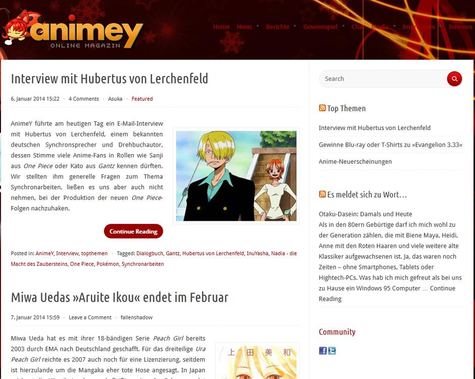 Neuer Partner: AnimeY