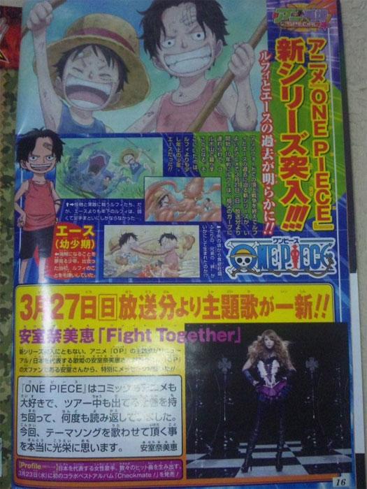 14. Opening für One Piece von Namie Amuro