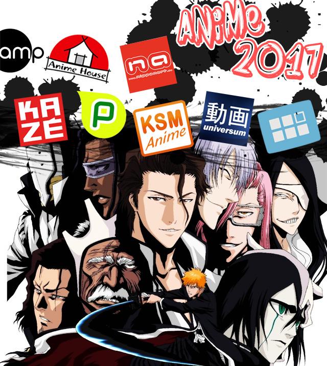 Deutsche Anime Lizenzen 2017 von Anime House, AniMoon, Kazé, KSM Anim