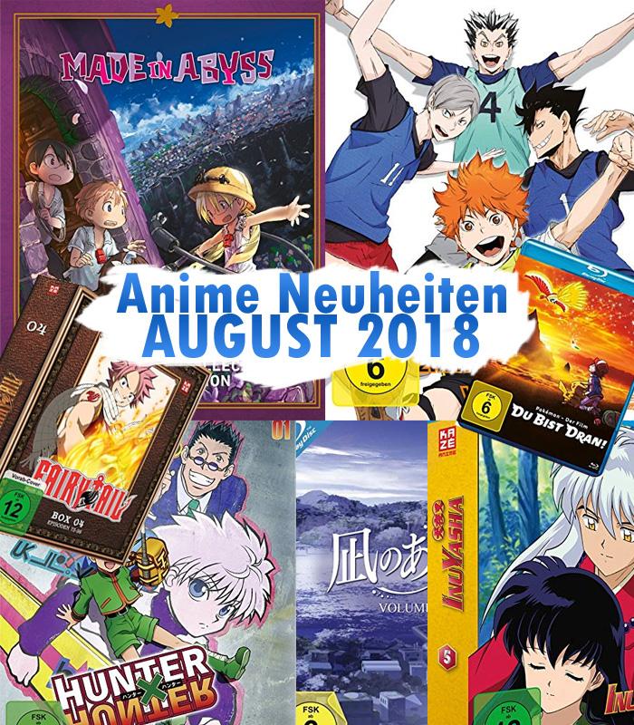 Anime Neuheiten für August 2018 u.a. von Filmconfect, Kazé, KSM Anim