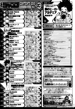 Weekly Shonen Jump 3/2015