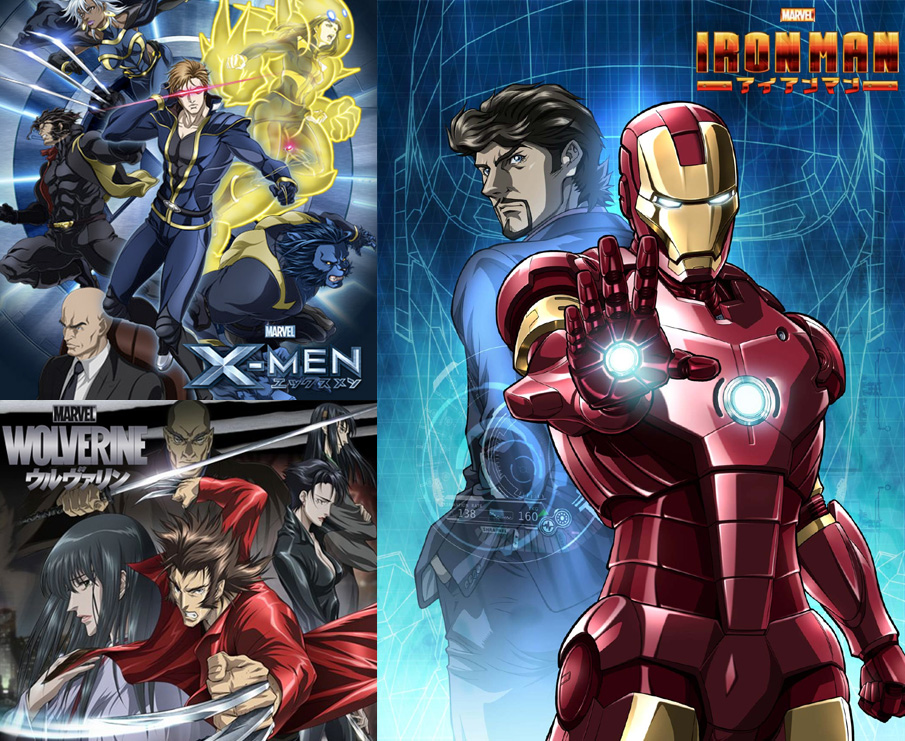 Marvel Anime meets Sony Pictures Home Entertainment: Iron Man, Wolveri