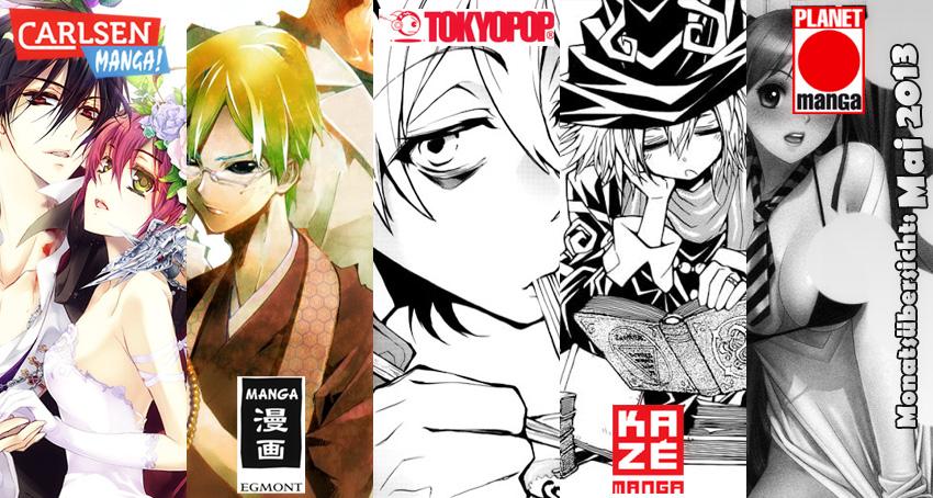 Mai 2013: Manga Monatsübersicht von Carlsen Manga, Egmont Manga (EMA)
