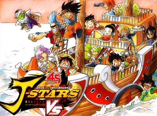 Crossover Beat 'em up Game mit Naruto, Son-Goku, Ruffy und Toriko: J-S