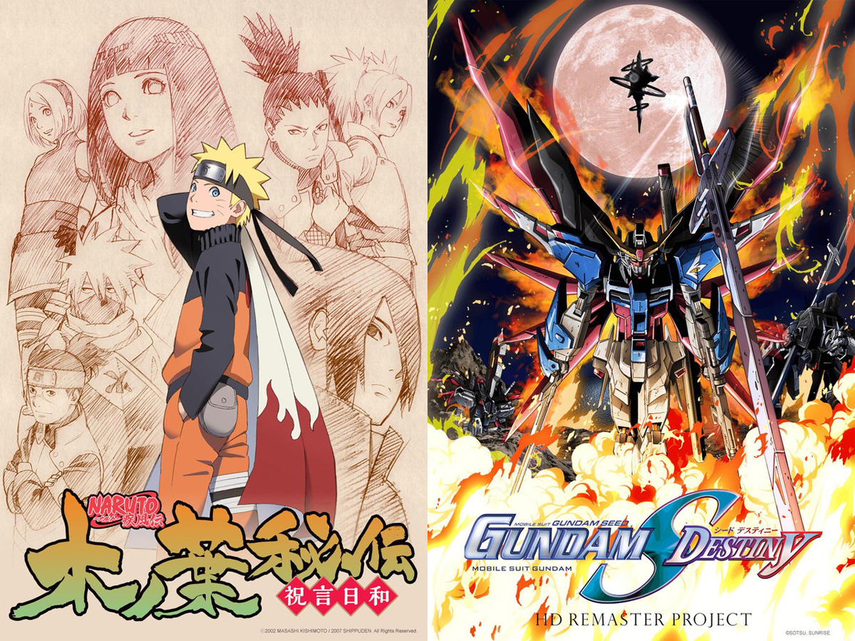 Bei Crunchyroll geht es mit Naruto Shippuden und Mobile Suit Gundam Se
