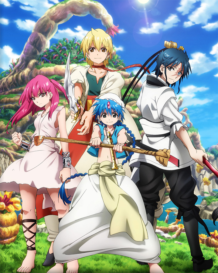 Die fantastische Anime-Serie Magi - the Labyrinth of Magic startet ab