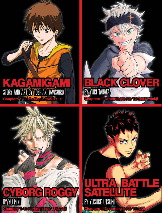 Zeit für eine Veränderung - Vier neue Serien im Shonen Jump Magazin