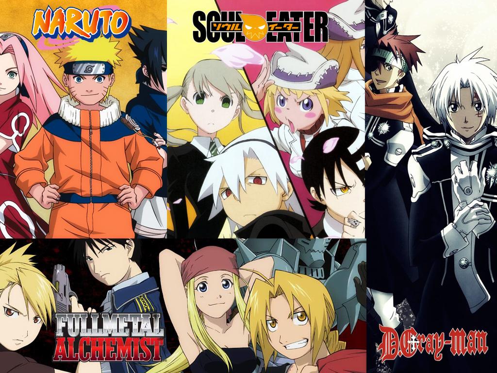 Naruto, Soul Eater, Rasilisk, Fullmetal Alchemist, D.Gray-Man, uvm. gr