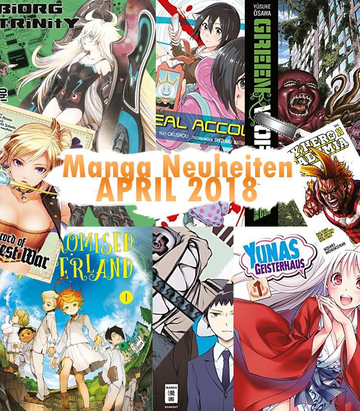 Manga Neuheiten für April 2018 von Altraverse, Carlsen, EMA, Kaze, Ma