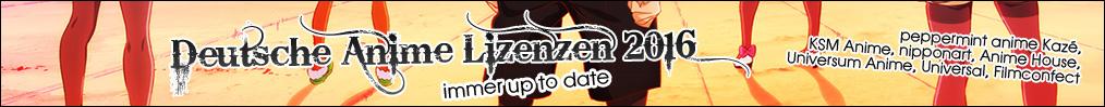 Deutsche Anime Lizenzen 2016